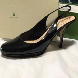 Kate Spade Kenzie Black Patent Slingback Heel